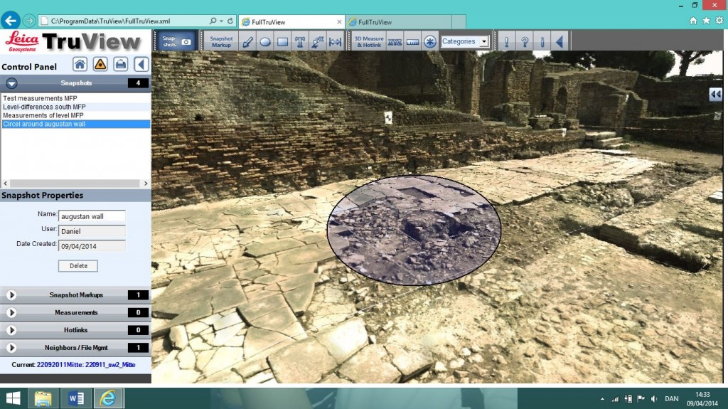 Circel around Augustan wall